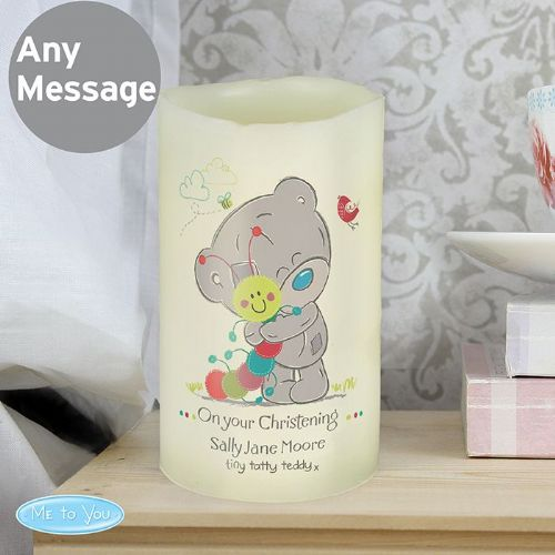 Personalised Tiny Tatty Teddy Cuddle Bug LED Candle